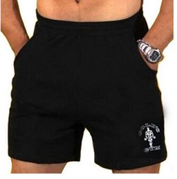 """Wholesale Inseam Length - Wholesale- Men's Gyms Shorts With Pockets Bodybuilding Clothing Men Golds Athlete Fitness Bermuda Weight Lifting Workout Cotton 5"""" Inseam"""