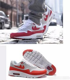 "Wholesale Footwear Lace Fashion - 2017 New Max 1 OG ""Sport Red"" Men Sneakers Cheap Women Maxes 87 Running Shoes Fashion Brand Youth Footwear Sports Sneakers"