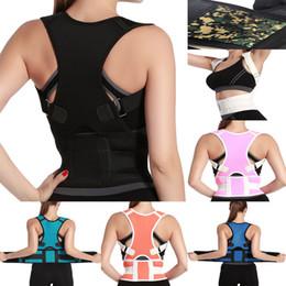 Wholesale Shoulder Brace Sale - 2017 Hot Sale Belly Sweat Belt Posture Brace Shoulder Back Support Back Posture Corrector Men Shoulder Posture Free Shipping