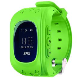 Venda por atacado- Q50 Kid GPS Relógio Inteligente Original Relógio De Bebê OLED Screen GPS Localização Smartwatch w / Suporte Anti-Lase Suporte 2G Rede Sim Card cheap wholesale gps watches de Fornecedores de relógios gps por atacado