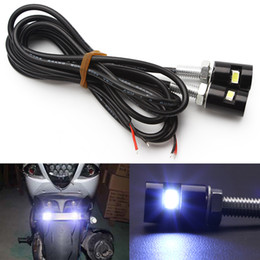Número de matrícula led online-Accesorios Screw Bolt Light 12V SMD 5630 Styling License Plate lámpara Car Auto Motorcycle White LED Tail Number