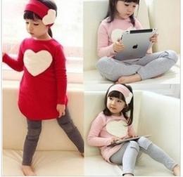 Wholesale Cute Korean Babies - 2017 kids girl boutique sets korean style fashion children 3pcs baby outfits set shirt + leggings + headband