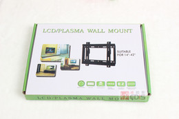 Wholesale Tv Stands Wall Mount - Wholesale- Excellent Quality New Design Universal For 14-42inch LCD LED Fixed Wall TV Mount Bracket Stand Holder PC stand