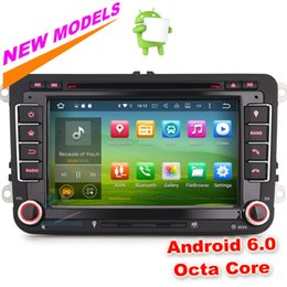 "Wholesale Dvd Amarok - HD 7"" Octa-Core Car DVD Android 6.0 GPS Navigation for VW Caddy Sharan Amarok Polo Scirocco Leon DAB+ Car Radio WIFI 3G OBD DVR DTV-IN BT"