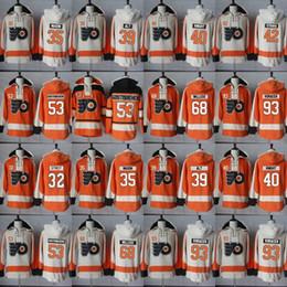 2019 hockey bianco hockey jersey Philadelphia Flyers Felpa con cappuccio Blank 53 Shayne Gostisbehere 93 Jakub Voracek 42 Petr Straka 68 Willcox Hockey Jersey Felpe con cappuccio sconti hockey bianco hockey jersey