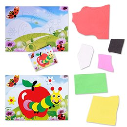 Wholesale Eva 3d Foam Stickers - Wholesale- Cartoon Animal Caterpillars 3D Eva Foam Craft Sticker Self-adhesive Crafts Learning Education Toys for Kids DIY Toys Xmas Gift