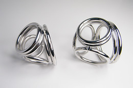 Wholesale Cock Ring Bra - Four in One Cock Ring Metal Cockring for Man glans ring dick ring 304 steel