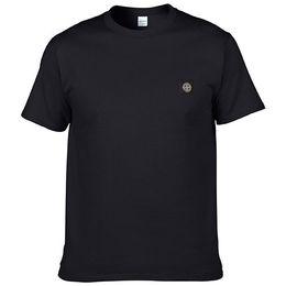 Wholesale T Shirt Stone Island - summer Men Clothes Solid Color short Sleeve STONED T-Shirt Men Cotton T-Shirt Casual island T-Shirts XS-3XL