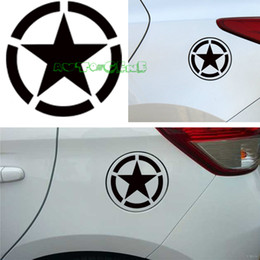 Wholesale Gas Cover Stickers - Wholesale- Limited Edition Five Pointed Star For Circular Gas Cap Cover Vinyl Sticker Decal