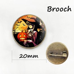 Wholesale Antique Bronze Lock Plate - Christmas gift and Star BroochesPins Halloween Jewelry Wholesale for Unisex Antique bronze plated Glass cabochon dome