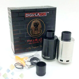 Wholesale Newest Pharaoh Dripper Tank A Rip Project Spring Loaded Clamps Triple Bottom Airflow Holes Direct to Coils Atomiers E Cig DHL Free