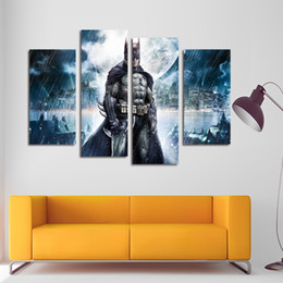Wholesale Batman Movie Poster - HD Printed Batman Movie Poster Group Painting Canvas Print Room Decor Print Poster Picture Canvas(No Frame)