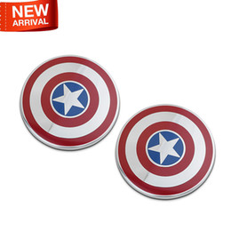 Wholesale Style Ho - 2017 New Marvel Agents of SHIELD Ho Captain America 100% Refit 3D Metal Car Auto Motorcycle Badge Emblem Sticker SUV Car-Styling