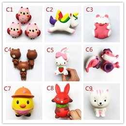 Wholesale Cute Dolphin Kids - 10 Style Squishy Toy Pegasus penguins Dolphin squishies Slow Rising Soft Squeeze Cute Cell Phone Strap gift Stress for children toy