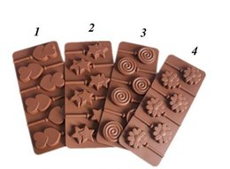 Wholesale Moulds For Chocolate - Fondant Lollipop Molds Chocolate Silicone Mould for Kitchen Baking Tool