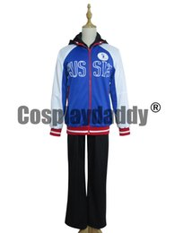 Wholesale Yuri Costume - Yuri!!! on Ice Yuri Plisetsky Blue Halloween Whole Set Cosplay Costume