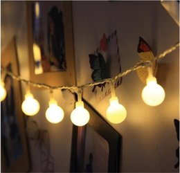 Wholesale Flasher Light Bulbs - Wholesale- 10m 100 Bulb string of ball lights Xmas Fairy Lights flasher lights led strip lamp sphere lighting for wedding party garland