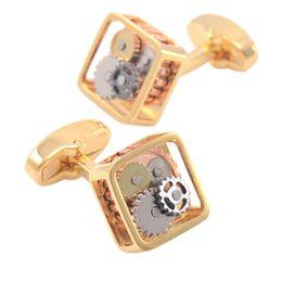 Wholesale Wedding Watches For Men - Brand Luxury Round Vintage Mechanical Watch Cufflinks For Men High Quality Cuff Links Navidad Shirt Cufflinks Wedding Groom