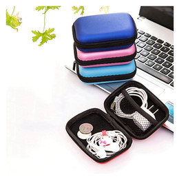 Wholesale Home Cable Storage - High Quality EVA Earphone Wire Storage Box Data Cable Cords Organizer Home Saundries Containers Clear Up Supplies