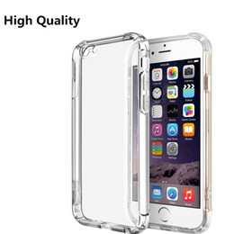 Wholesale Silicone Cover For Blackberry - Shockproof Crystal Soft TPU Cover for Iphone 8 6 7 plus Case Clear Slim Silicone case For Galaxy S8 S7 Edge One plus Note 8 Cases Fund