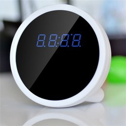 Wholesale Time Clocks Wifi - 32GB P2P WiFi IP 1920*1080P HD Spy Clock Pinhole Hidden Camera DVR Camcorder Motion Detection Remote View Real time Video for PC Smartphone
