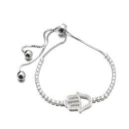 Wholesale Cheap Sterling Silver Charm Bracelets - 925 Sterling Silver Bracelet Palm Design With CZ Stone Snap Charm Bracelets Fashion Cheap Jewelry MB00161