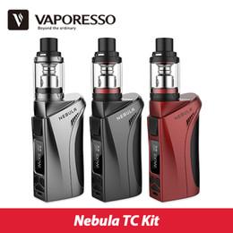 Wholesale red nebula - Wholesale- Original 100W Vaporesso Nebula TC Kit with 4ml Veco Plus Tank Electronic Cigarette vs Nebula Box Mod 80W  100W Output
