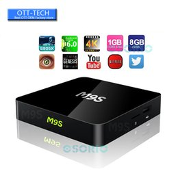 Wholesale Home Solutions - M9S 1GB 8GB Android OTT TV Box Amlogic S905X Wifi Home Streaming Solution Android 6.0 HDMI2.0 4K Smart Media Player