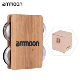 2019 instruments à percussion à cloche Vente en gros d'ammonium Cajon Box Drum Companion Accessoire 4-cloche Jingle Castanet pour instruments à percussion instruments à percussion à cloche pas cher
