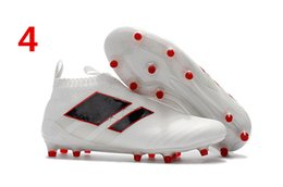 Wholesale High Top Dhl - DHL 2017 Soccer Boots ACE 17+ 16+ Purecontrol FG Mens Soccer Cleats Pure Control High Tops Football Boots Cheap New Soccer Shoes For Men