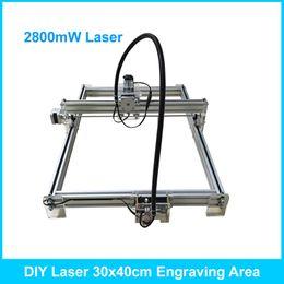 Wholesale Cnc Cutter Machine - 2800mW DIY Desktop Mini Laser Engraver Engraving Machine Laser Cutter Etcher CNC Picture Logo Printer 30*40cm