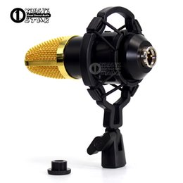 Wholesale Mic Holders - Universal Black Studio Recording Microphone Shock Mount Holder Condenser Mic Stand Clamp Mike Clip PC Computer Broadcast Singing Shockmount