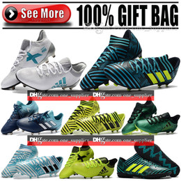 Wholesale Cheap Mens Indoor Soccer Shoes - Original Low Soccer Cleats Mens Cheap ACE 17.1 FG Soccer Shoes Nemeziz Messi 17.1 FG Football Boots TF IC Indoor Nemeziz Tango 17.3 Boots