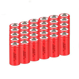 Wholesale Sub C Rechargeable Battery - 5pcs a set !! powerful High quality Sub C SC 1.2 V rechargeable camera battery cell 5C Ni-cd for power tools with tab