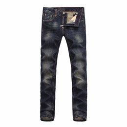 Wholesale Jeans Boys Feet - Wholesale-trousers straight Little feet pants hole brand of pants designer boy jeans