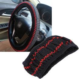 Cinza de seda on-line-3 cores 38 cm diy tampa do volante de carro verão ajudante fresco preto bege cinza de condução cobre carro-styling accessorie gelo seda