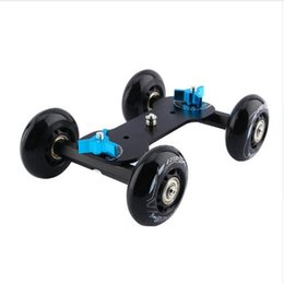 Wholesale Dolly Kit Skater Wheel Truck - New product hot sale wholesale Black Truck Skater Wheel Table Top Compact Dolly Slider Kit Dslr Dolly Car For Video Camera DSLR Accessories