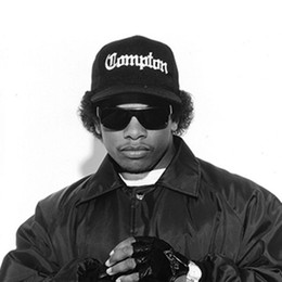 Wholesale Snapback Hats Compton - Wholesale- West Beach Gangsta City Crip N.W.A Eazy-E Compton Skateboard Cap Snapback Hat Hip Hop Fashion Baseball Caps Adjust Flat-Brim Cap