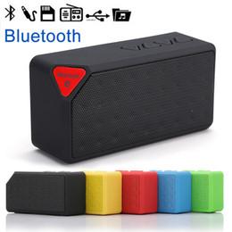 Wholesale Computers Equipment - Bluetooth Speaker X3 Cube Portable TF Card Car Subwoofer Car Audio Wireless Outdoor Sports Equipment Mini FM Radio Mobile Computer Audio