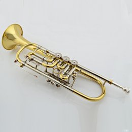 Wholesale Trumpet Jbtr - Wholesale- Quality trumpet Supplier JBTR-440 trumpet Professional Bb Gold Trumpet with Care Kit and Case