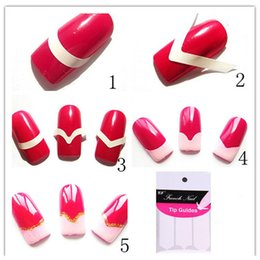 autocollants ongles marque Promotion Manucure Nail Art DIY Français Manucure Guides Autocollant Pour Femmes Marque Femmes Maquillage Outils Pour Nail Art
