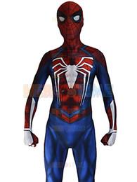 Wholesale Kids Lycra Bodysuit - Insomniac Spider-man Costume PS4 Insomniac Games Spiderman Suit 3D Print Lycra Spandex Zentai Spiderman Bodysuit