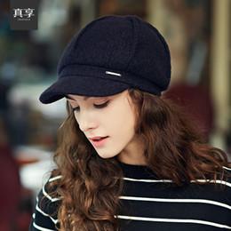 coreano, boné, moda, femininas Desconto Atacado-Lady outono e inverno chapéu feminino coreano moda britânica lazer boina boné maré de todos os jogo boné quente B-1532