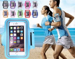 Wholesale Wholesale Workout Bands - For Iphone 6 Waterproof Sports Running Case Armband Running bag Workout Armband Holder Pounch For iphone Cell Mobile Phone Arm Bag Band