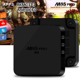 Wholesale Cheapest Wholesalers Uk - Rockchip RK3229 M8S Pro TV Box 2GB 8GB Cheapest Model with 17.2 RKMC pre-installed TV Boxes Support 2.4G WiFi 3D 4K H.265