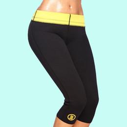 Wholesale Legs Fat Burning Pants - Wholesale- Hot selling control panties stretch neoprene slimming body shaper thermo shaper pants leg slimming sweat fat burning pants
