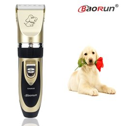 2017 cortadoras de pelo Venta al por mayor-2017 Profesional Grooming Kit Recargable Pet Gato Perro Hair Trimmer Alta calidad eléctrica Clipper Shaver Set Haircut Machine cortadoras de pelo Rebaja