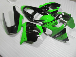 Wholesale Kawasaki Aftermarket Motorcycle Fairings - New Aftermarket body parts motorcycle ABS fairing kit for Kawasaki Ninja ZX9R 02 03 fairings set ZX9R 2002 2003 color green black
