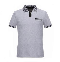 Wholesale Designer Formal Men Shirts - Mens polo t shirt famous brand t shirts skull mens designer business polo shirt luxury brand stylish tee shirt M-XXXL D27