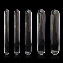 Wholesale Huge Glass Anal Plugs - Cylinder Glass Dildo Big Huge Large Glassware Penis Crystal Anal Plug Women Sex Toys for Women G spot Stimulator Pleasure Wand